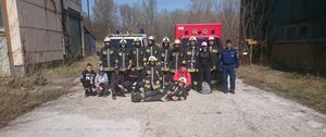 Gyakorlatoztak a tűzoltóink