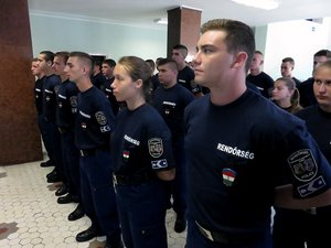 35 új rendőr állt szolgálatba megyénkben