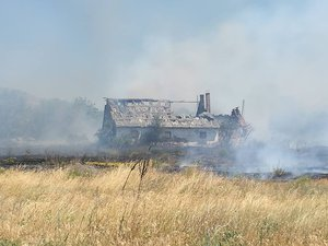 Húsz hektáron pusztított a tűz Esztergom-Kertvárosban