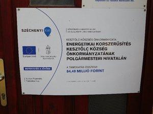Energetikai korszerűsítés Kesztölc község önkormányzatának polgármesteri hivatalán