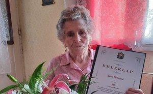Ilcsa néni  90 éves