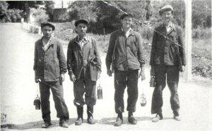 Kesztölci bányászok az 1930-as években