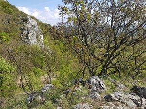 A Kétágú-hegy nyergének sziklái