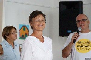 Megyesi Éva kertészmérnök és Somorjai Ede fotósa a Pilis legszebb virágairól tartott előadást