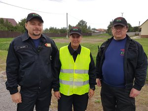 Önkéntes tűzoltóink vezették a felvonuló karavánt