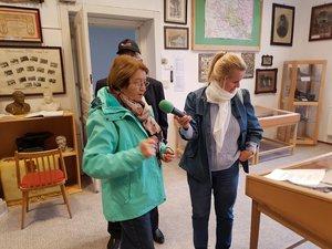 Radovics Istvánné a helytörténeti múzeumban Kesztölc történetéről mesélt.