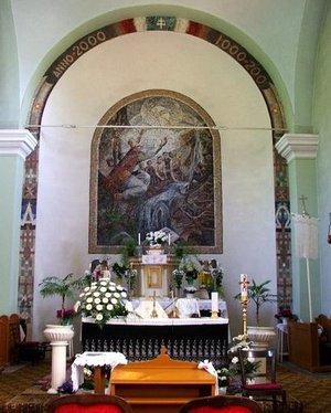 A Szent Kelemen mozaik oltárkép