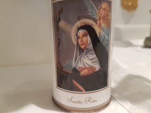 Szent Rita gyertyatartó