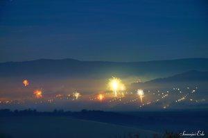 Vörösvár ligeti részén különösen sok rakétával köszöntik az újévet.