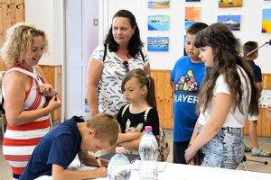 A festőtábor kiállításának megnyitójával kezdődött a fesztivál