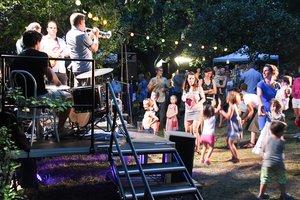 Jazz koncert az Erdészház kertjében
