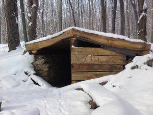 Kapisztrán kunyhó, télen