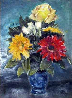 Virág csendélet (30x40 olaj)